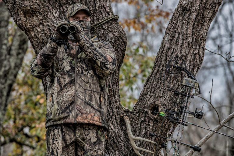 Deer Hunter In A Tree
